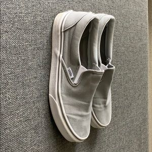 Vans Shoes - Grey Slip On Vans